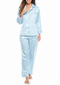 Miss Elaine Long Sleeve Notch Collar Pajama Set