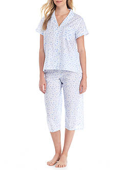 Miss Elaine White Daisy Pajama Set