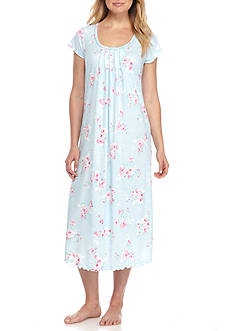Miss Elaine Floral Printed Jersey Long Gown
