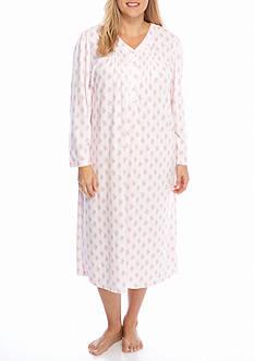 Miss Elaine Plus Size Long Honeycomb Gown
