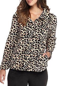 Miss Elaine Animal Print Bed Jacket