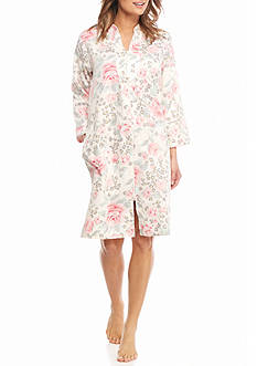 Miss Elaine Sateen Short Zip Robe