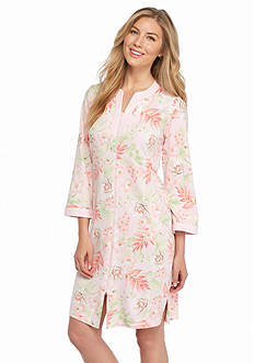 Miss Elaine Interlock Short Zip Robe