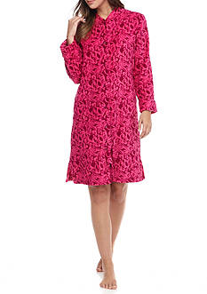 Miss Elaine Short Plush Fleece Robe