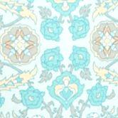 Blue Women's Robes: Turquoise Medallion Miss Elaine Interlock Short Zip Robe