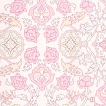 Pink Women's Robes: Rose Medallion Miss Elaine Interlock Short Zip Robe