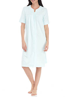 Miss Elaine Short-Sleeve Short Terry Robe