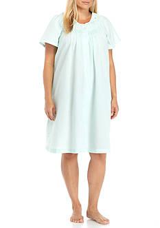 Miss Elaine Plus Size Seersucker Robe
