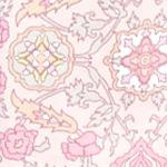 Pink Women's Robes: Rose Medallion Miss Elaine Medallion Interlock Long Zip Robe