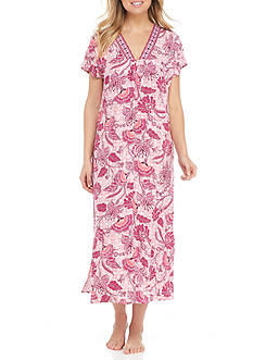 Miss Elaine Short Sleeve Long Caftan
