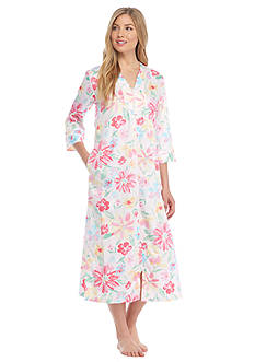 Miss Elaine Sateen Long Zip Robe