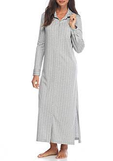 Lauren Ralph Lauren Plus Size Cotton Modal Stripe Maxi Sleepshirt
