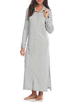 Lauren Cotton Modal Stripe Maxi Sleepshirt