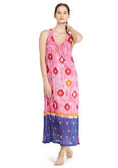 Lauren Ralph Lauren Crinkle Woven Maxi Gown
