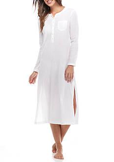 Lauren Ralph Lauren Crinkle Gauze Maxi Sleepshirt
