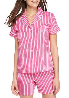Lauren Ralph Lauren Short Sleeve Boxer Pajama Set