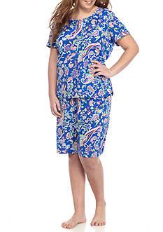 Lauren Ralph Lauren Plus Size Sleeve Bermuda Pajama Set