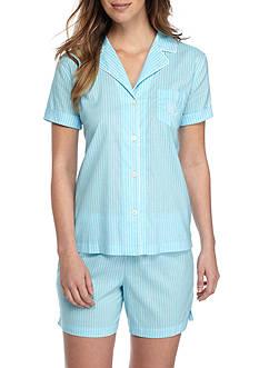 Lauren Ralph Lauren Classic Woven Boxer Pajama Set