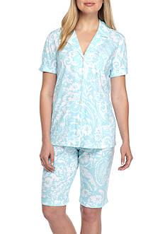 Lauren Ralph Lauren Short-Sleeve Knit Pajama Set
