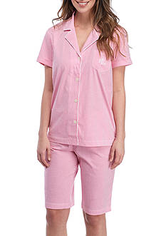 Lauren Ralph Lauren Short-Sleeve Knit Pajama Set