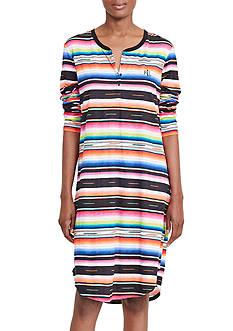 Lauren Ralph Lauren Stripe Slub Sleepshirt