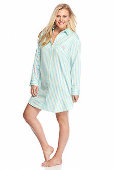 Lauren Ralph Lauren Plus Size Sateen His Sleepshirt