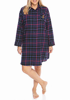 Lauren Plus Size Flannel Sleepshirt