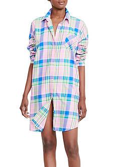 Lauren Ralph Lauren Brushed Twill Sleepshirt