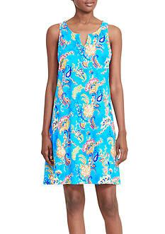 Lauren Ralph Lauren Short Paisley Gown
