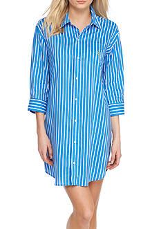 Lauren Ralph Lauren Button Front Lawn Sleepshirt