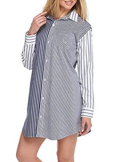 Lauren Ralph Lauren Woven Button Front Sleepshirt