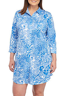 Lauren Ralph Lauren Plus Size Printed Knit Sleepshirt