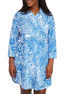 Lauren Ralph Lauren Three Quarter Length Sleep Shirt