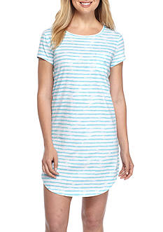 Lauren Ralph Lauren Short-Sleeve Stripe Sleepshirt