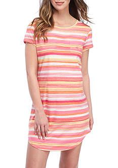 Lauren Ralph Lauren Short-Sleeve Stripe Sleepshirt