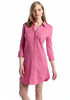 Lauren Ralph Lauren Roll Cuff Sleep Shirt