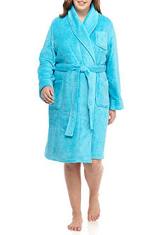 Lauren Ralph Lauren Plus Size Shawl Terry Robe