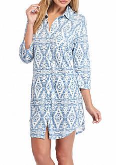 Lauren Ralph Lauren Icon Notch Collar Knit Sleepshirt