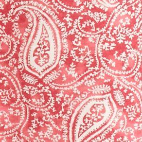 Women: Designer Sale: Red Paisley Lauren Ralph Lauren Icon Notch Collar Knit Sleepshirt