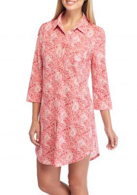 Lauren Ralph Lauren Icon Notch Collar Knit Sleepshirt Belk