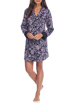 Lauren Ralph Lauren Sateen Paisley Sleepshirt