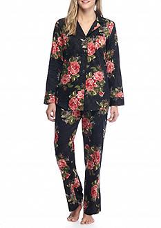 Lauren Ralph Lauren Sateen Notch Pajama Set