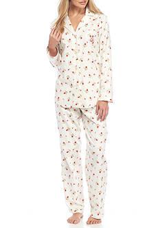 Lauren Ralph Lauren Petite Plaid Flannel Notch Pajama Set