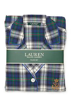 Lauren Ralph Lauren Plaid Flannel Pajama Set