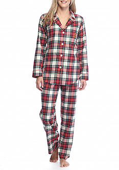 Lauren Ralph Lauren Plaid Flannel Pajama Set