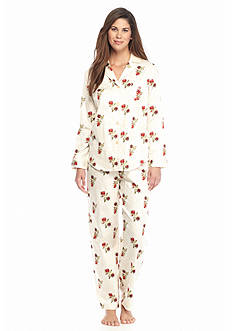 Lauren Ralph Lauren Printed Sateen Notch Collar Pajama Set