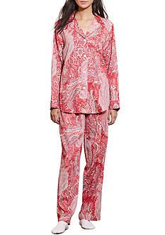 Lauren Ralph Lauren Petite Sateen Paisley Pajama Set
