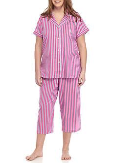 Lauren Ralph Lauren Plus Size Knit Capri Pajama Set
