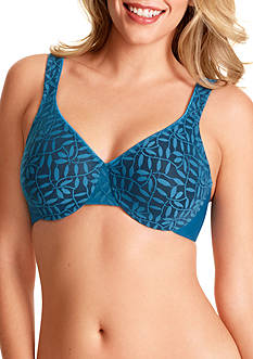 Olga® Sheer Leaves Minimizer Bra