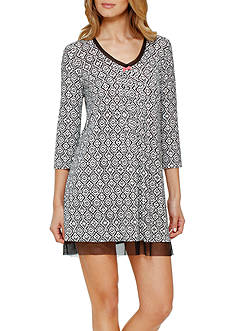 Ellen Tracy Women's Long Sleeve Chemise